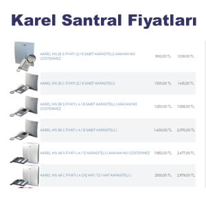 KAREL SANTRAL FİYATLARI
